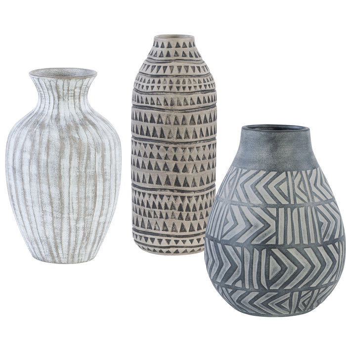 Uttermost 17716 Natchez Geometric Vases, Set of 3