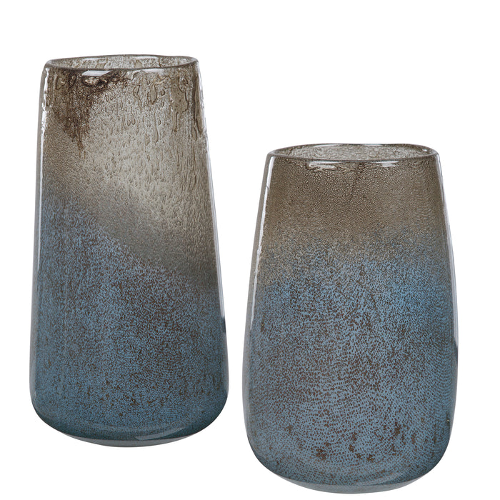 Uttermost 17762 Ione Seeded Glass Vases, Set of 2