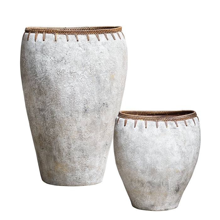 Uttermost 17745 Dua Terracotta Vases, Set of 2