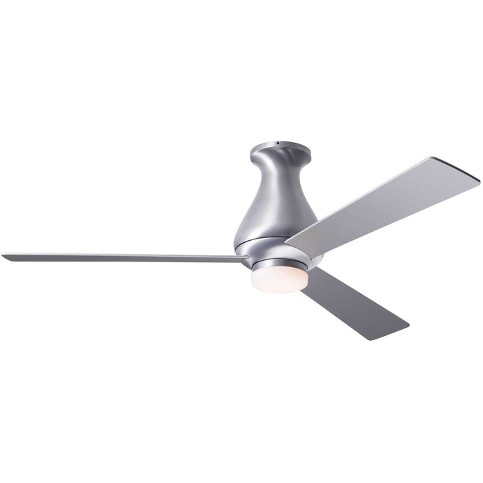 "Modern Fan Company Altus Brushed Aluminum 42"" Flush Ceiling Fan with LED Light"
