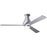"Modern Fan Altus Brushed Aluminum 42"" Flush Mount Ceiling Fan with Aluminum Blades and Remote Control - ALCOVE LIGHTING"