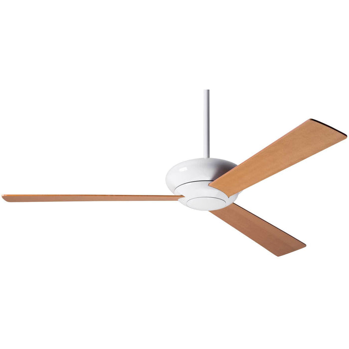 "Modern Fan Company Altus Gloss White 42"" Ceiling Fan with Maple Blades"