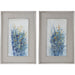 Uttermost 41558 Indigo Florals Framed Art Set of 2