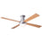 "Modern Fan Ball Brushed Aluminum 42"" Flush Mount Ceiling Fan with Maple Blades and Remote Control - ALCOVE LIGHTING"