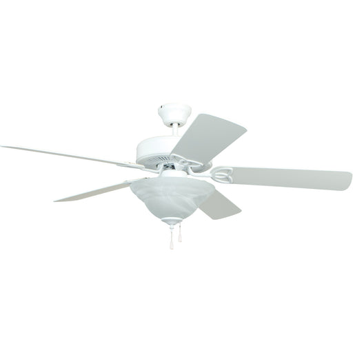 "Craftmade BLD52MWW5C1 Builder Deluxe Matte White 52"" Ceiling Fan"
