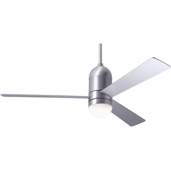"Modern Fan Company Cirrus DC Brushed Aluminum 50"" Ceiling Fan with LED Light"