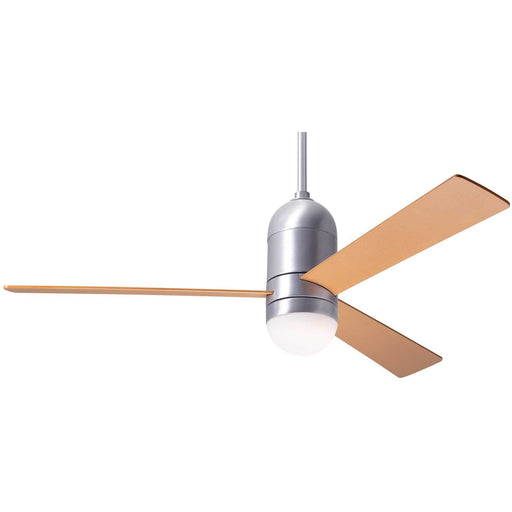 "Modern Fan Company Cirrus DC Brushed Aluminum 50"" Ceiling Fan with Maple Blades"