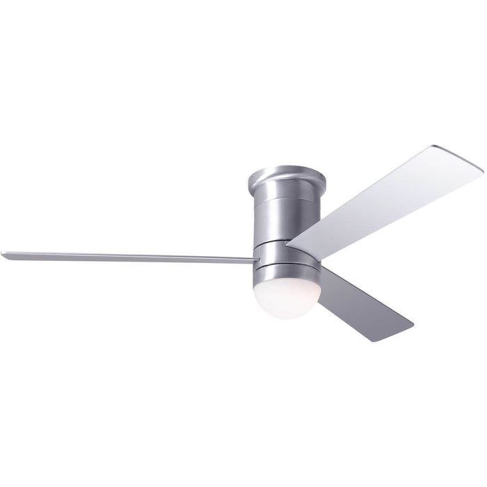 "Modern Fan Company Cirrus DC Brushed Aluminum 50"" Flush Mount Ceiling Fan"