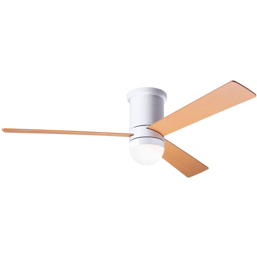 "Modern Fan Company Cirrus DC Gloss White 50"" Flush Mount Ceiling Fan"