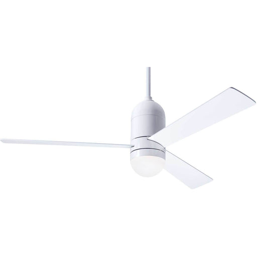 "Modern Fan Company Cirrus DC Gloss White 50"" Ceiling Fan with LED Light"