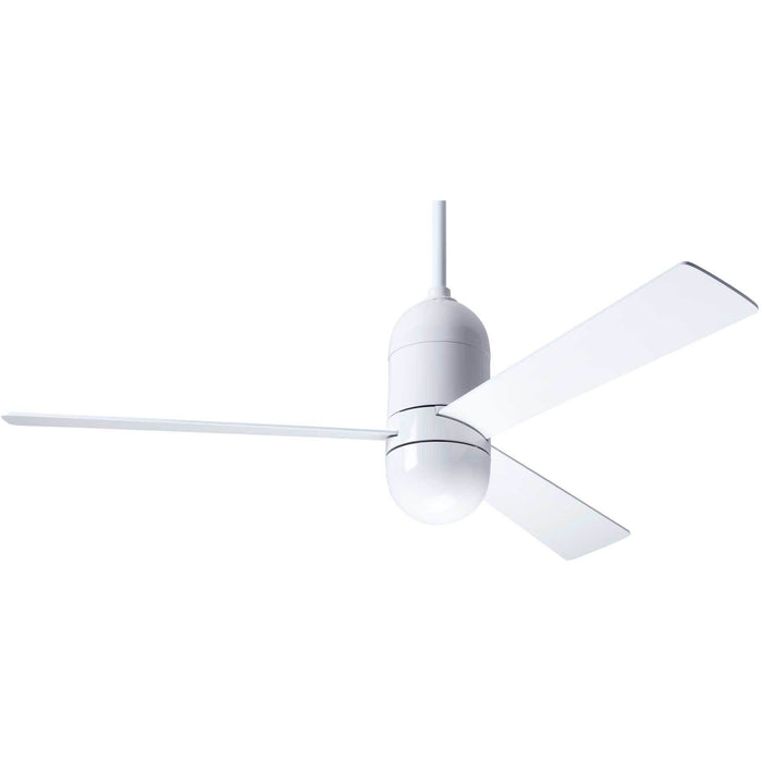 "Modern Fan Company Cirrus DC Gloss White 50"" Ceiling Fan with Remote Control"