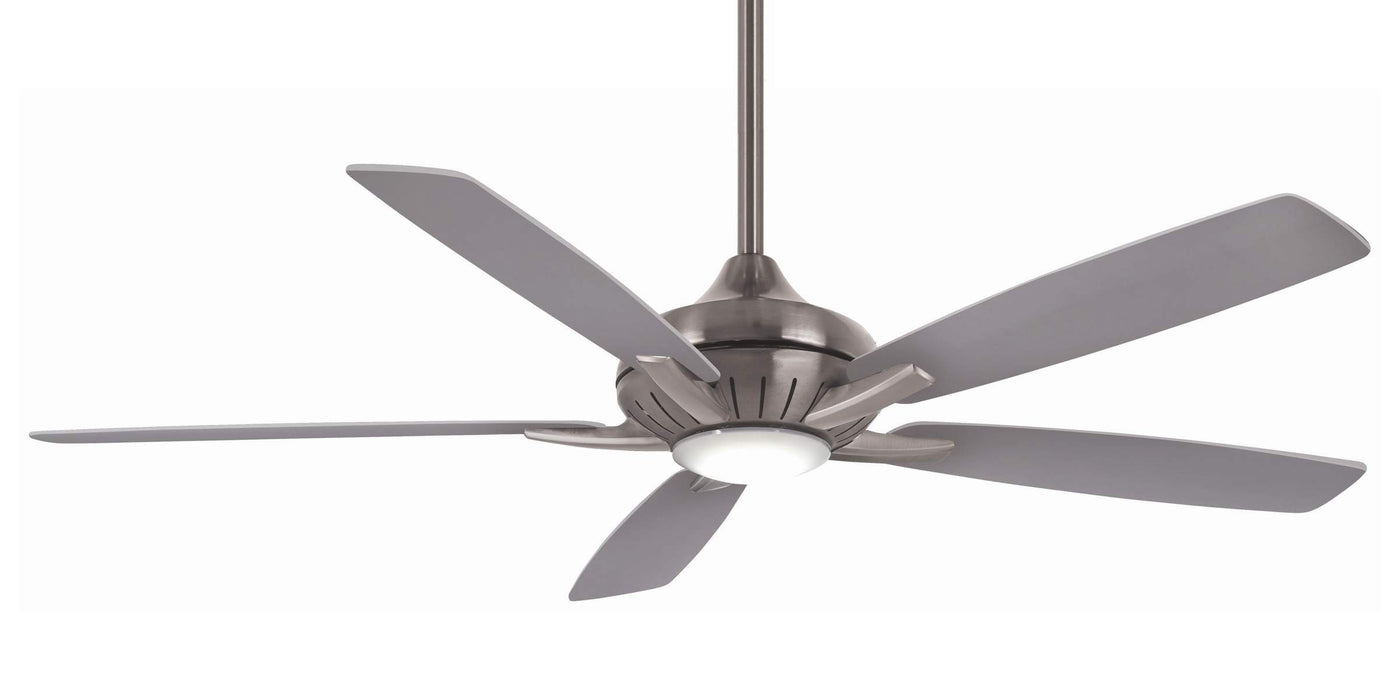 "Minka Aire F1001-BN/SL Dyno XL Brushed Nickel 60"" LED Ceiling Fan with Remote Control"