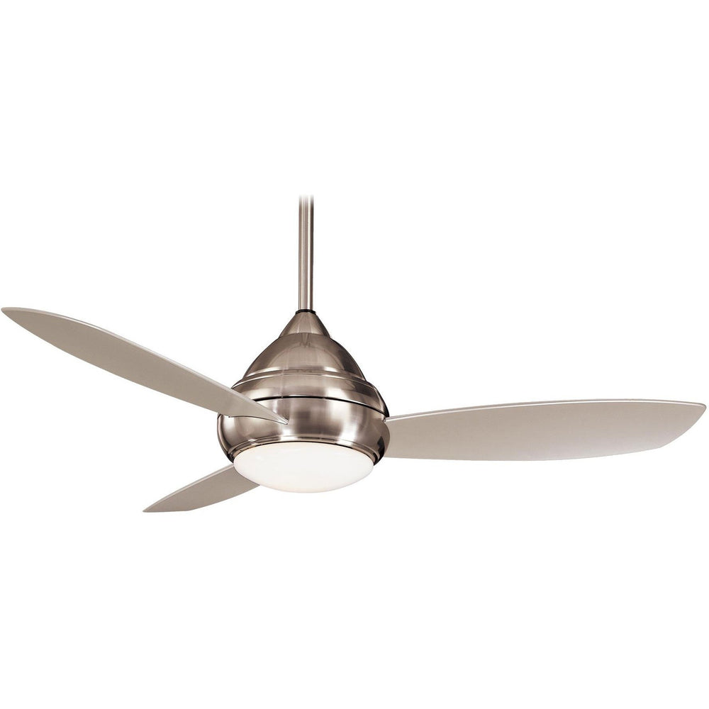 "Minka Aire F476L-BNW Concept I Brushed Nickel Wet 52"" Outdoor Ceiling Fan with Wall Control - ALCOVE LIGHTING"