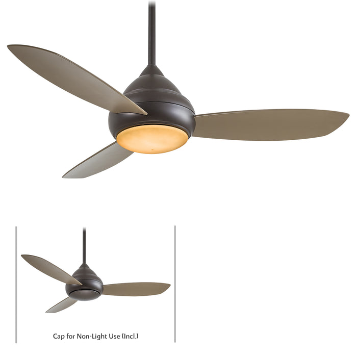 Minka Aire Concept I 52 in. LED Indoor/Outdoor Oil Rubbed Bronze Ceiling Fan