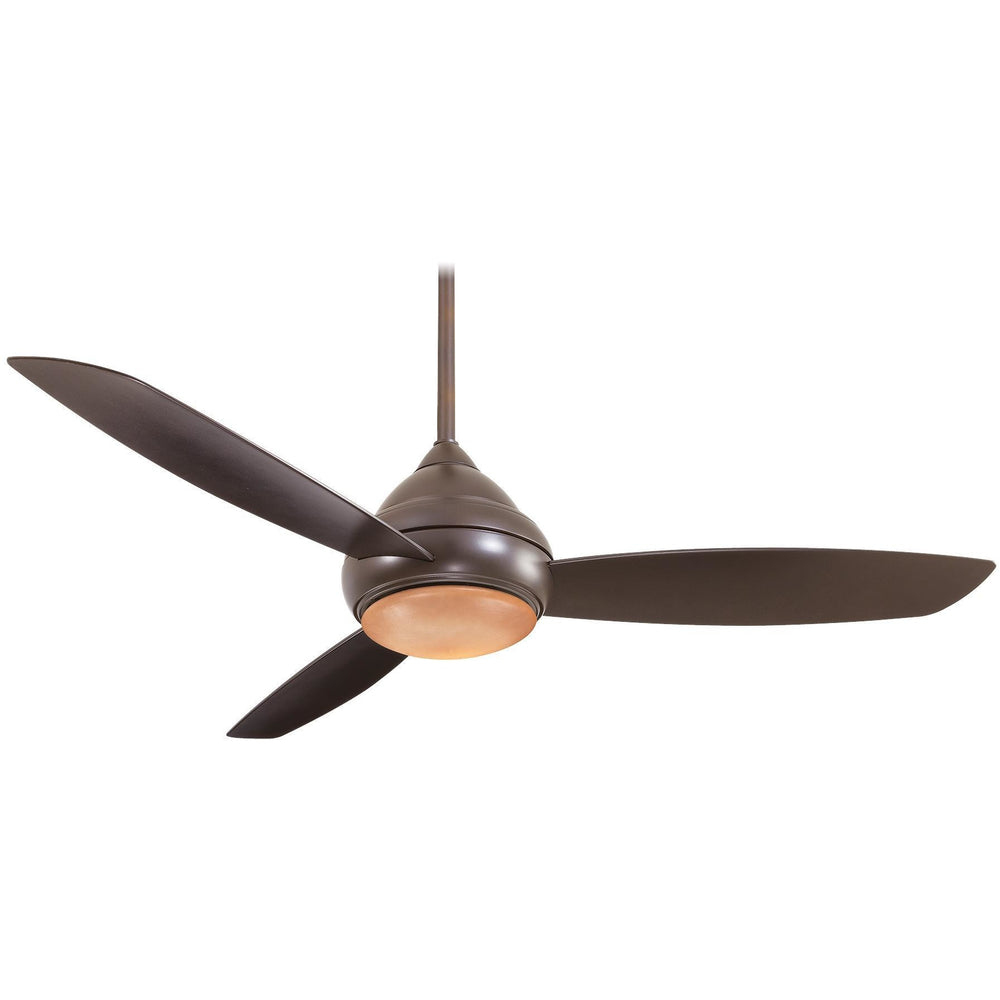 "Minka Aire F477L-ORB Concept I Wet Oil Rubbed Bronze 58"" Outdoor Ceiling Fan with Wall Control - ALCOVE LIGHTING"
