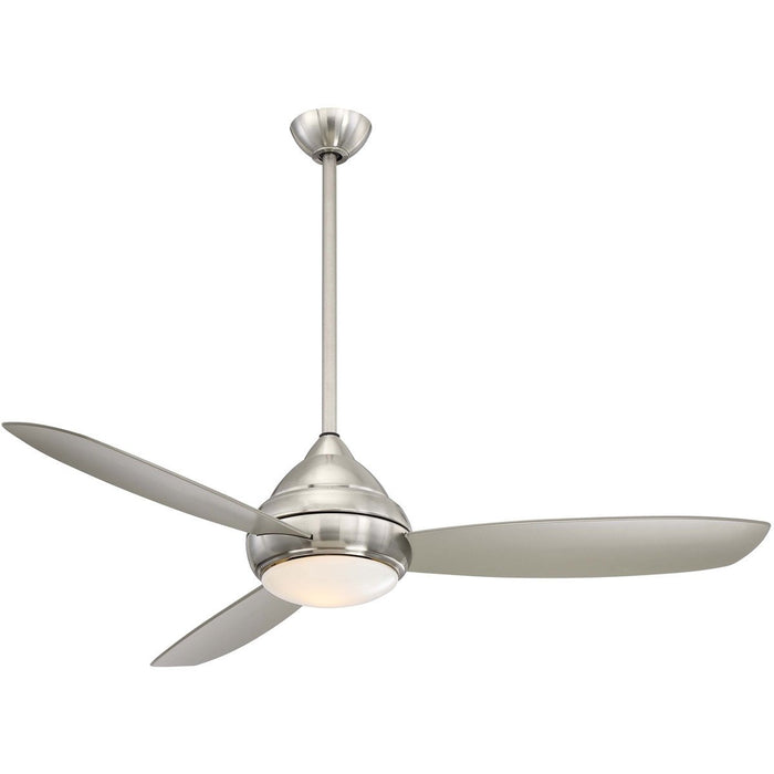 "Minka Aire F477L-BNW Concept I Brushed Nickel Wet 58"" Outdoor Ceiling Fan with Wall Control - ALCOVE LIGHTING"