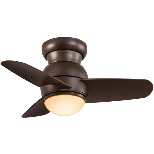 "Minka Aire F510L-ORB Spacesaver Oil Rubbed Bronze 26"" Flush Mount Ceiling Fan with Wall Control - ALCOVE LIGHTING"