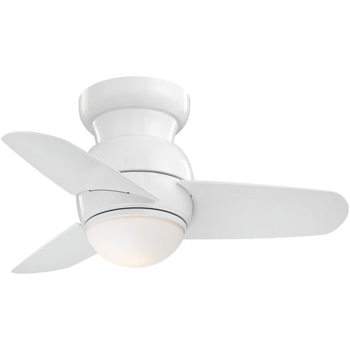 "Minka Aire F510L-WH Spacesaver White 26"" Flush Mount Ceiling Fan with Wall Control - ALCOVE LIGHTING"