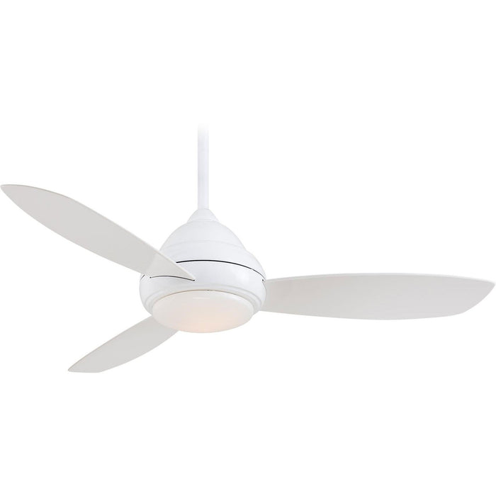 "Minka Aire F516L-WH Concept I White 44"" Ceiling Fan with Remote Control - ALCOVE LIGHTING"