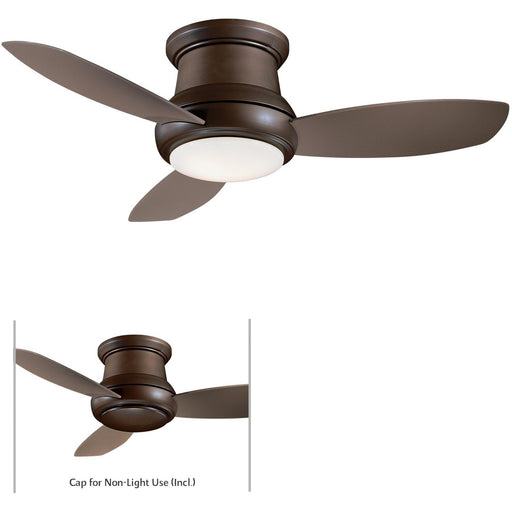 "Minka Aire F518L-ORB Concept II Oil Rubbed Bronze 44"" Flush Mount Ceiling Fan with Remote Control - ALCOVE LIGHTING"