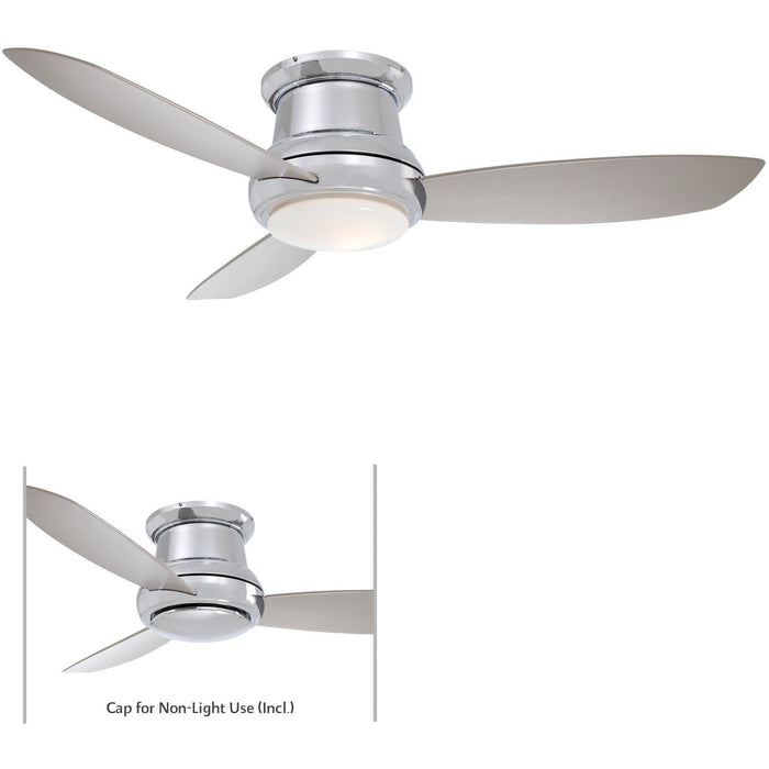 "Minka Aire F518L-PN Concept II Polished Nickel 44"" Flush Mount Ceiling Fan with Remote Control - ALCOVE LIGHTING"