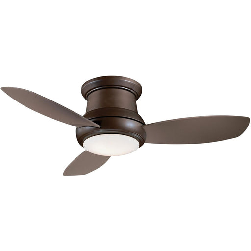 "Minka Aire F519L-ORB Concept II Oil Rubbed Bronze 52"" Flush Mount Ceiling Fan with Remote Control - ALCOVE LIGHTING"
