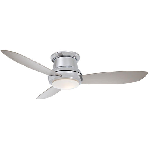 "Minka Aire F519L-PN Concept II Polished Nickel 52"" Flush Mount Ceiling Fan with Remote Control - ALCOVE LIGHTING"