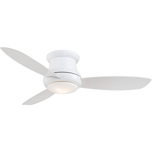 "Minka Aire F519L-WH Concept II White 52"" Flush Mount Ceiling Fan with Remote Control"