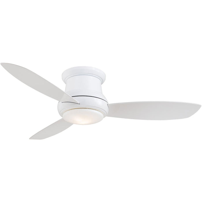 "Minka Aire F519L-WH Concept II White 52"" Flush Mount Ceiling Fan with Remote Control - ALCOVE LIGHTING"