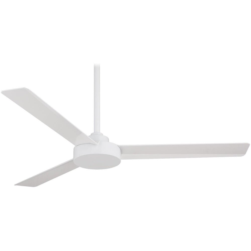 "Minka Aire F524-WHF Roto Flat White 52"" Ceiling Fan with Wall Control - ALCOVE LIGHTING"