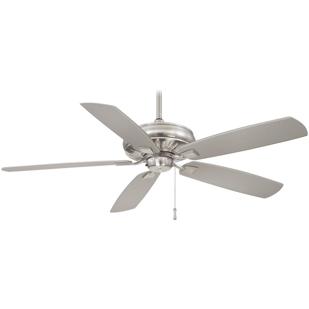 "Minka Aire F532-BNW Sunseeker Brushed Nickel Wet 60"" Outdoor Ceiling Fan - ALCOVE LIGHTING"