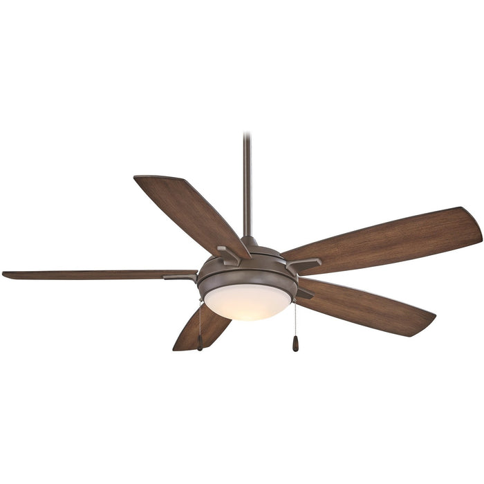 "Minka Aire F534L-ORB Luna-Aire Oil Rubbed Bronze 54"" LED Ceiling Fan with 3-Speed Pull Chain"