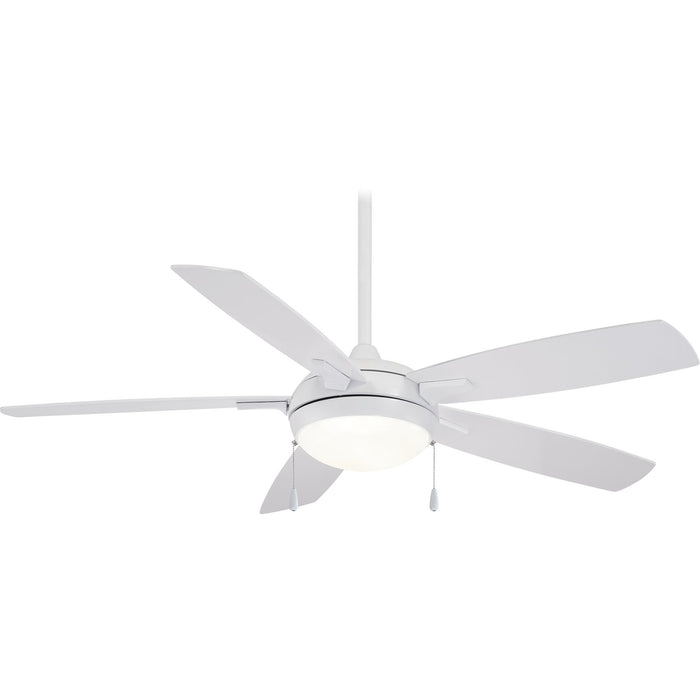 "Minka Aire F534L-WH Luna-Aire White 54"" LED Ceiling Fan with 3-Speed Pull Chain"