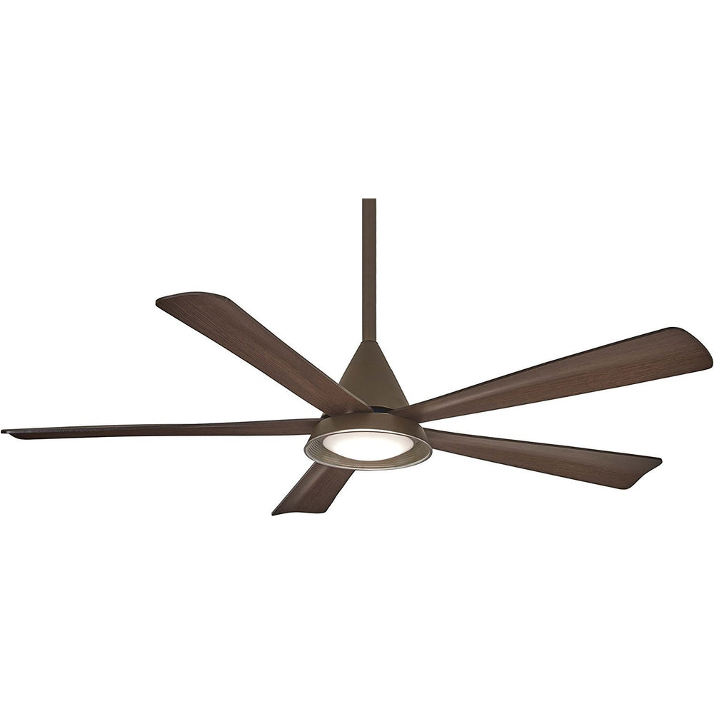 "Minka Aire F541L-ORB Cone Oil Rubbed Bronze 54"" Outdoor Ceiling Fan with Remote Control"