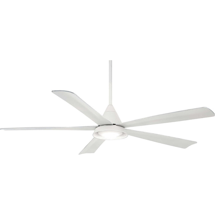 "Minka Aire F541L-WH Cone White 54"" Outdoor Ceiling Fan with Remote Control"