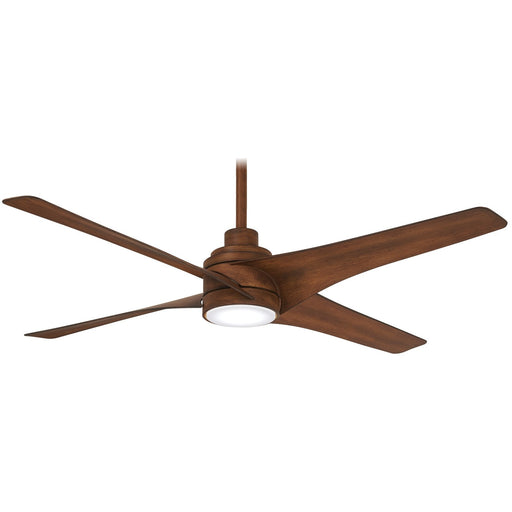 "Minka Aire F543L-DK Swept Distressed Koa 56"" Ceiling Fan with Remote Control"