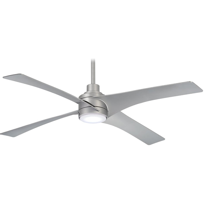 "Minka Aire F543L-SL Swept Silver 56"" Ceiling Fan with Remote Control"