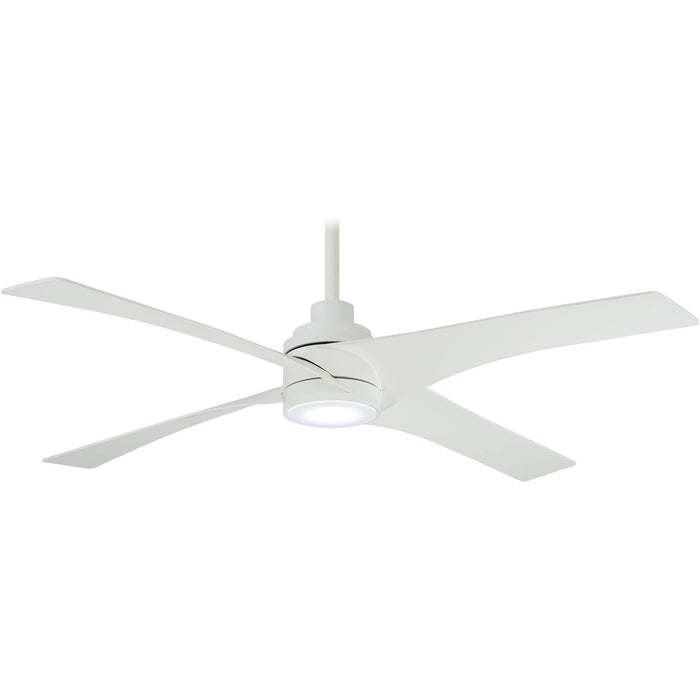Minka Aire Swept 56 in. LED Indoor Flat White Ceiling Fan with Remote