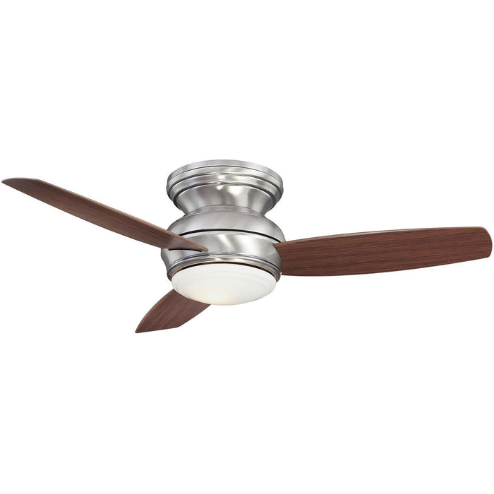 "Minka Aire F593L-PW Traditional Concept Pewter 44"" Flush Mount Ceiling Fan with Wall Control - ALCOVE LIGHTING"