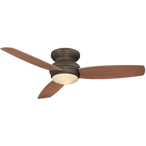"Minka Aire F594L-ORB Traditional Concept Oil Rubbed Bronze 52"" Flush Mount Ceiling Fan with Wall Control - ALCOVE LIGHTING"