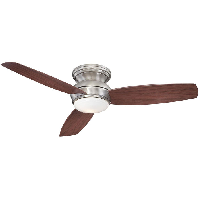 "Minka Aire F594L-PW Traditional Concept Pewter 52"" Flush Mount Ceiling Fan with Wall Control - ALCOVE LIGHTING"
