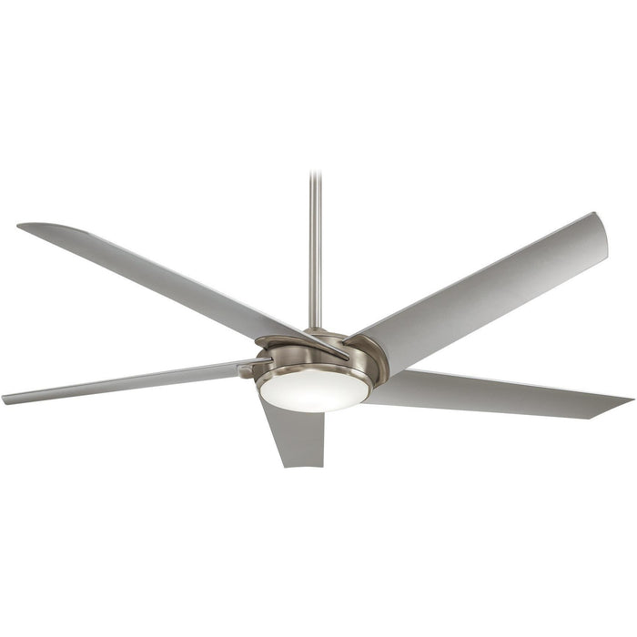 "Minka Aire F617L-BN Raptor Brushed Nickel 60"" Ceiling Fan with Remote Control - ALCOVE LIGHTING"