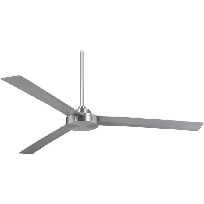 "Minka Aire F624-ABD Roto XL Brushed Aluminum 62"" Outdoor Ceiling Fan with Wall Control - ALCOVE LIGHTING"