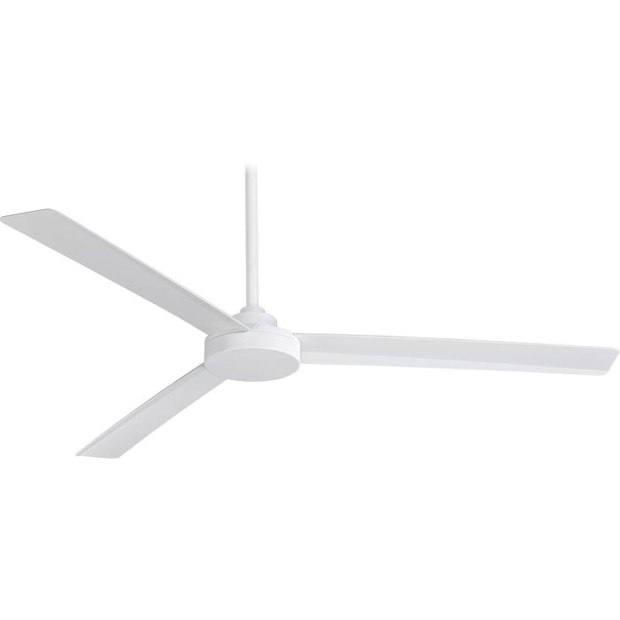 "Minka Aire F624-WHF Roto XL Flat White 62"" Outdoor Ceiling Fan with Wall Control - ALCOVE LIGHTING"