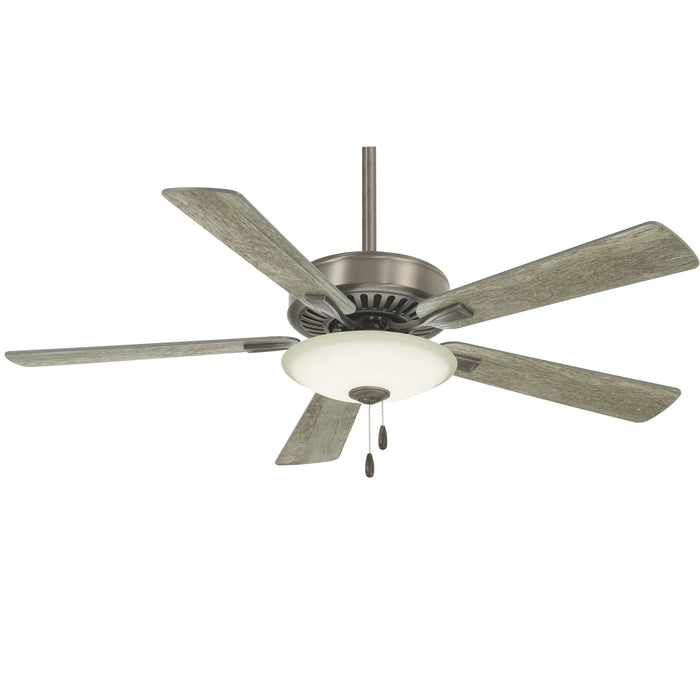 "Minka Aire Contractor Uni-Pack 52"" 5-Blade LED Ceiling Fan in Burnished Nickel F"