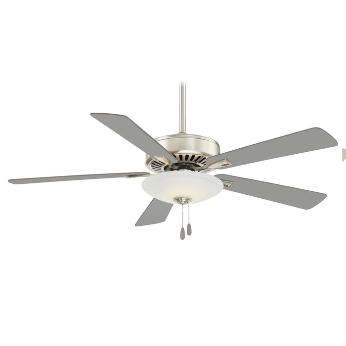 "Minka Aire Contractor Uni-Pack 52"" 5-Blade LED Ceiling Fan in Polished Nickel Fi"