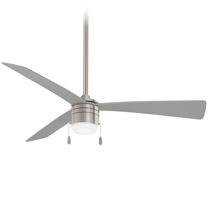 "Minka Aire Vital 44"" Indoor Brilliant Silver Ceiling Fan with Light Kit"