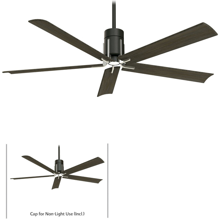 "Minka Aire F684L-MBK/BN Clean Matte Black/Brushed Nickel 60"" LED Ceiling Fan with Remote Control"