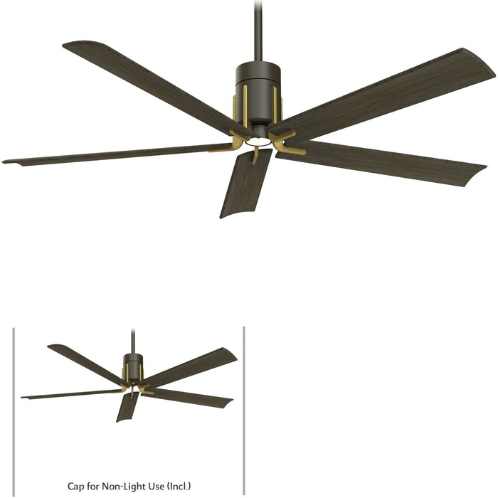 "Minka Aire F684L-ORB/TB Clean Oil Rubbed Bronze/Toned Brass 60"" LED Ceiling Fan with Remote Control"