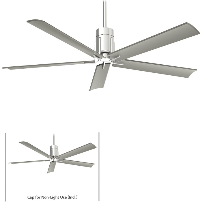 "Minka Aire F684L-PN Clean Polished Nickel 60"" LED Ceiling Fan with Remote Control"